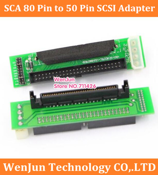 new SCA 80 Pinn to 50 Pin SCSI Aapter SCA 80pin to IDE 50pin Converter Adapter 80 PINS SCSI Hard Disk Transfer Card image