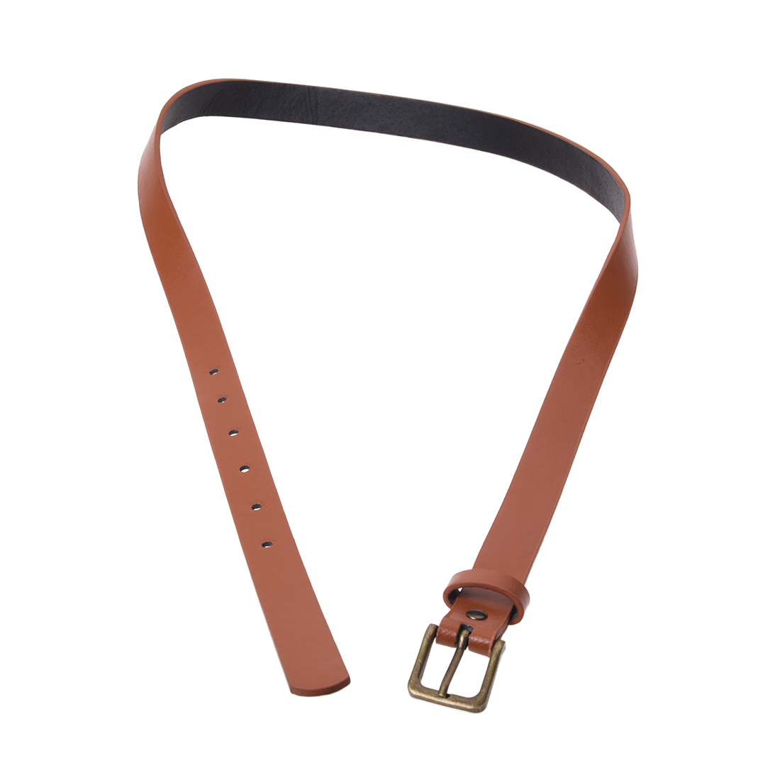 Girls Ladies Skinny Slim Narrow Belt Dress Belt - Tan ...