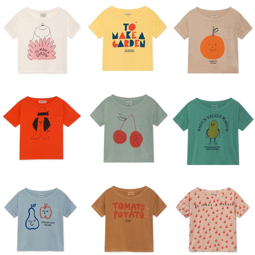 BOBOZONE 2021 NEW BOBO loose t-shirt for kids boys girls summer tee tops 1