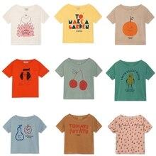 BOBOZONE Camiseta holgada BOBO para niños, niños y niñas, camisetas de verano, novedad de 2019
