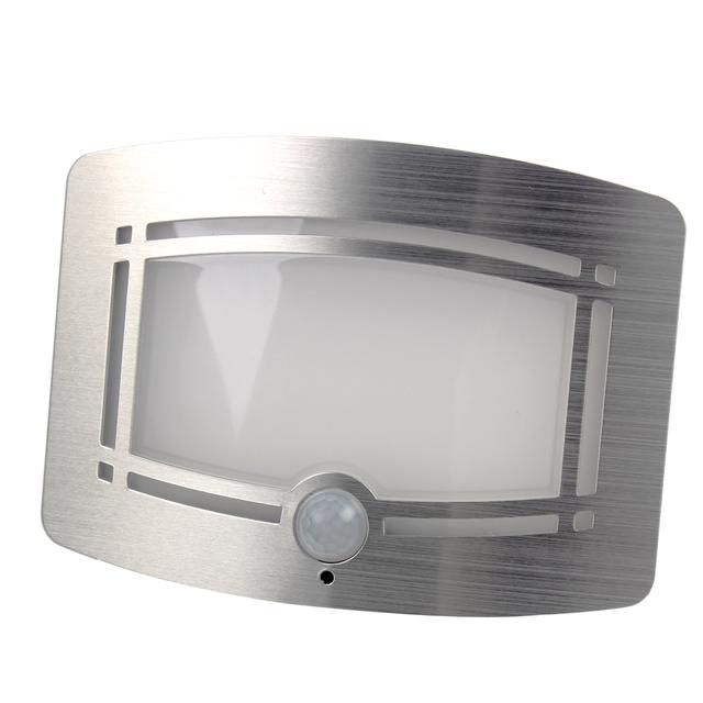 Luz Da Noite LEVOU Iluminação Doméstica Para O Armário Do Quarto Escada Lâmpada Novidade Sem Fio Infrared Sensor de Movimento Parede de Decoração Para Casa # KF