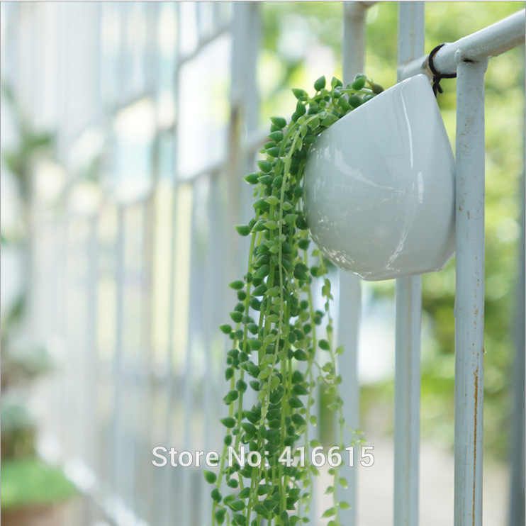 Lovely Hanging Plant Pots Online Part - 13: White Ceramic Home Decor Creative Hanging Planters Irregular Vase Flower  Pots Hanging Pots With Hole Wall
