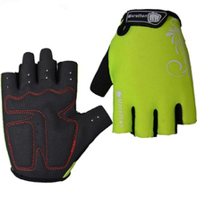 Factory direct sale Breathbale lycra fabric Shock-proof half finger bicycle gloves