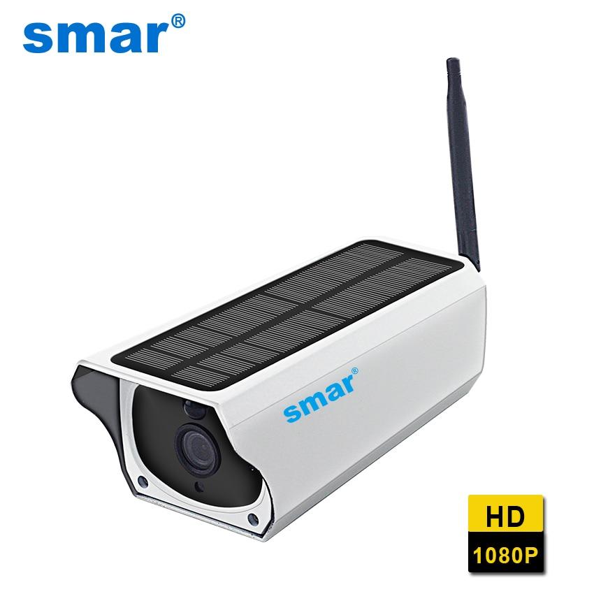 2MP Energia Solar Câmera de Segurança Impermeável Ao Ar Livre Wifi IP Câmera Night Vision Vigilância CCTV Câmera de Vídeo Gravador De Cartão De TF