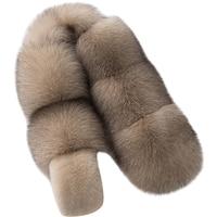 Fox Fur Collar For Hood Natural Fox Fur Hood Trim Scarf Big Fur Collar 100% Real Collar Trim Customwomen big real raccon fur
