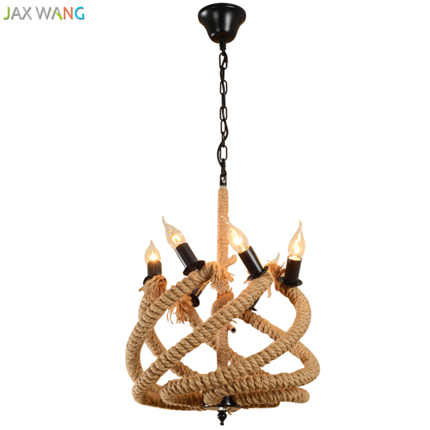 Southeast Asian Vintage Hemp Rope Pendant Lights Retro Hanging Lamp For Living Room Restaurant Indoor Lighting Fixtures Fixtures Let Our Commodities Go To The World Lights & Lighting
