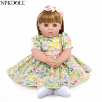 NPKDOLL Adorable 50 CM Princess Doll Reborn Soft Silicone Reborn Baby Dolls Lifelike Boneca Reborn Early Education Toys