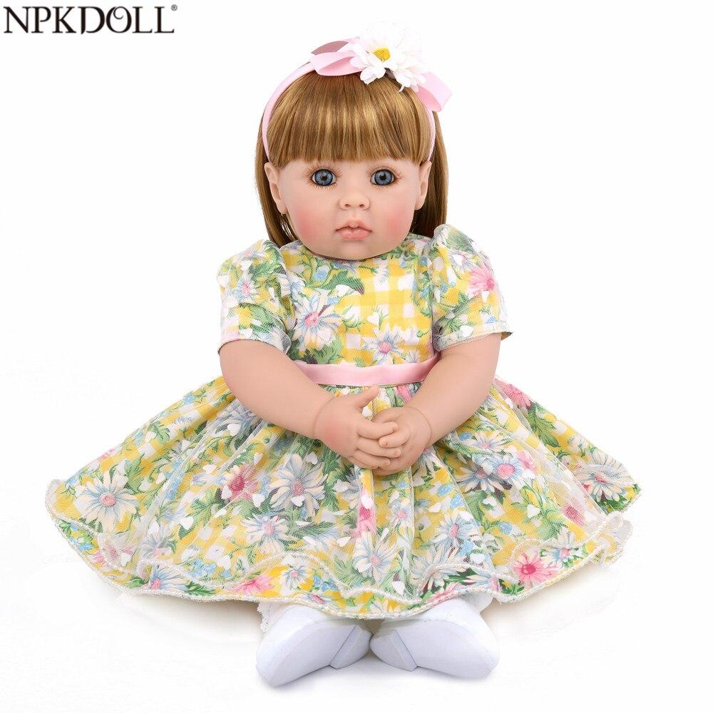 NPKDOLL Adorable poupée princesse 50 CM Reborn Silicone souple Reborn bébé poupées réaliste Boneca Reborn jouets éducatifs précoces