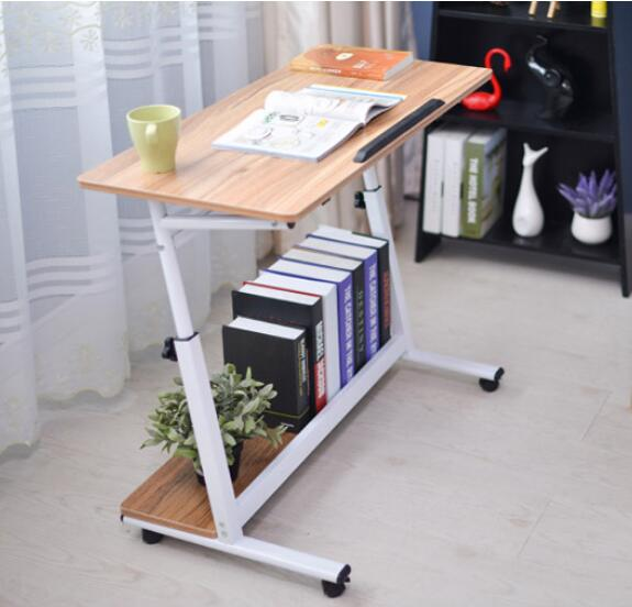 80*40CM Lazy Mobile Laptop Table Portable Notebook Computer Desk Bedside Table 120 45cm portable bedside notebook table mutil purpose rremovable computer desk lazy laptop desk children study desk with wheels