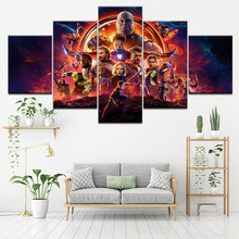2018 hot Movie marvel avengers Infinity War poster Canvas print schilderij Home Decoration wall art foto voor woonkamer(China)
