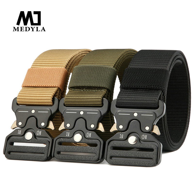 MEDYLA tactical   belt   male commando black eagle training multi-function army fan outdoor camouflage canvas nylon   belt