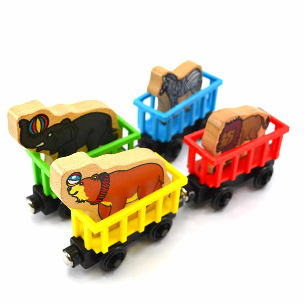 Toys for children New Personalised Cartoon 1PC Animal Name Wooden Train Gadgets Novelty Interesting Children Fun Birthday Toys
