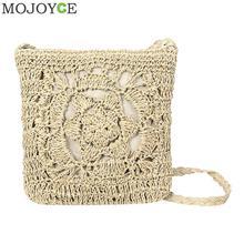 Богемная тканая пляжная сумка с вырезами, Женский соломенный клатч ручной работы с бахромой, повседневный клатч, вязанная летняя сумка в стиле бохо