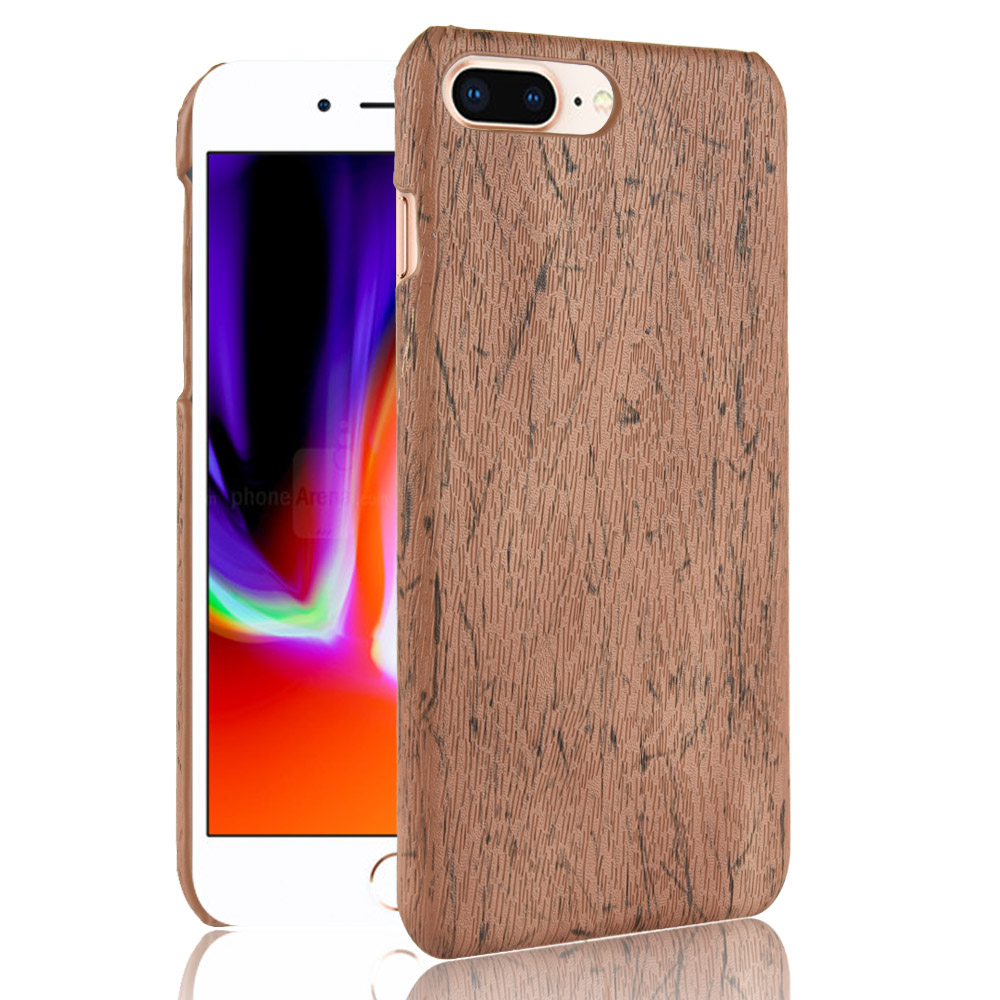 subin New For Apple iPhone 7 Case 4.7 inch PU Wood Leather grain mobile holster For iPhone 7 shell phone bag cover