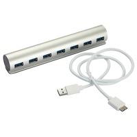 De Aluminio De alta Velocidad 7 Puertos USB 2.0 Hub Externo Adaptador Portátil Para Windows PC Portátil