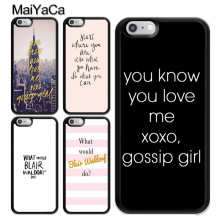 MaiYaCa Gossip Girl Blair Waldorf Quotes Phone Bag TPU Cover For Apple iPhone 8 7 6 6S Plus 5S SE XS MAX X XR Back Fundas Coque