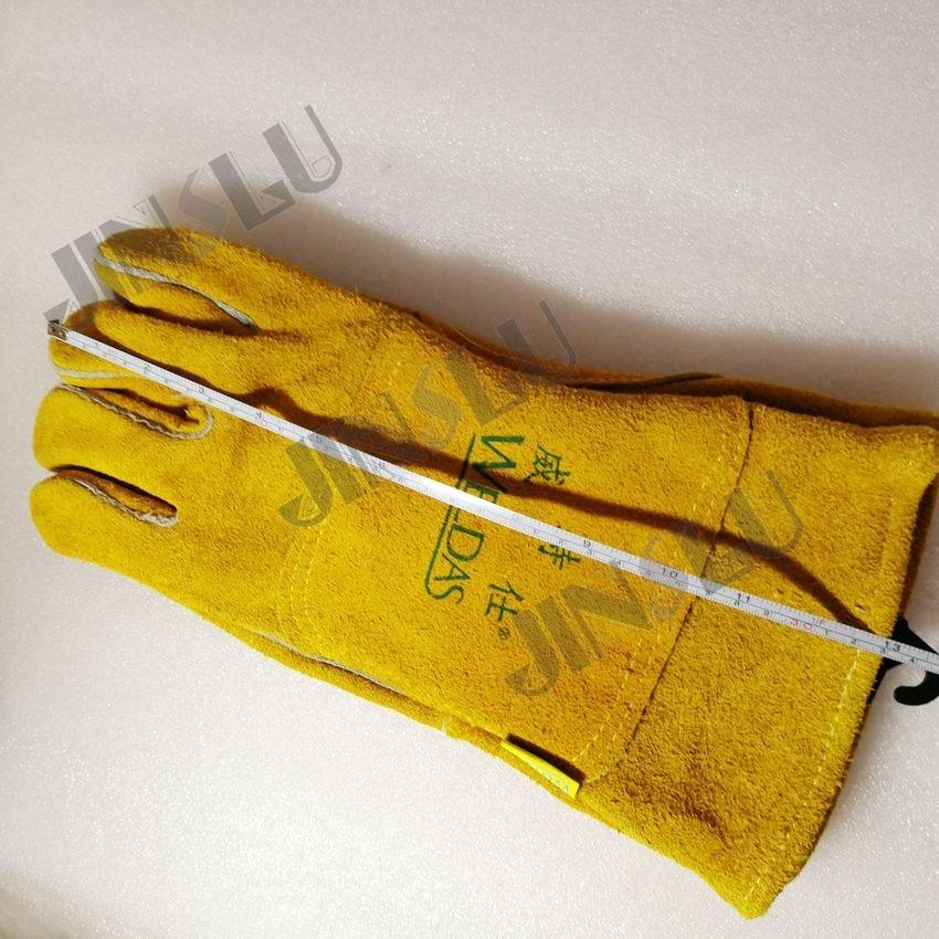 Welding Glove Work Welder's Cowskin Leather gloves Welding Protective Long Sleeve Glove 3 pairs oxygen tig welding gloves work gloves breathable firebreak welder safety glove
