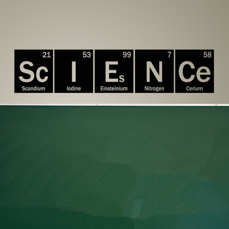 Science Periodic Table Elements Living Room Home School <font><b>Office</b></font> Vinyl Art Carving Wall Decal <font><b>Sticker</b></font> for Home Window Decoration