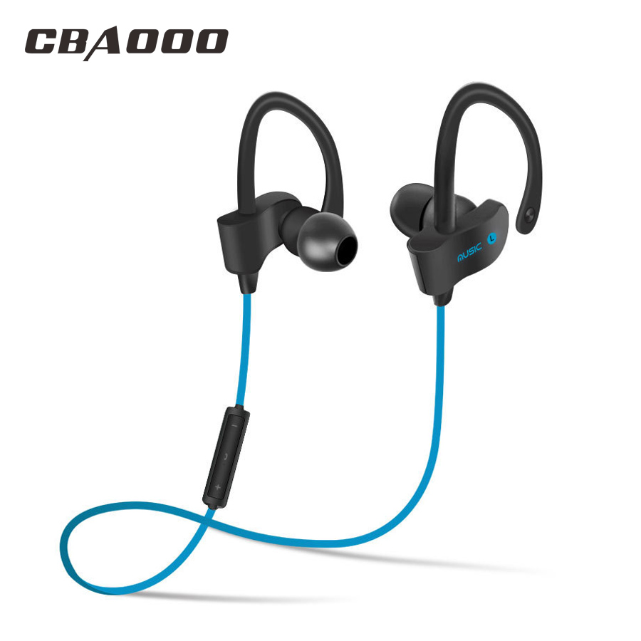 Earphone Bluetooth Stereo Ear Hook Wireless Bluetooth Headphone Sport In-Ear earphones Headsets With Mic for iPhone Samsung