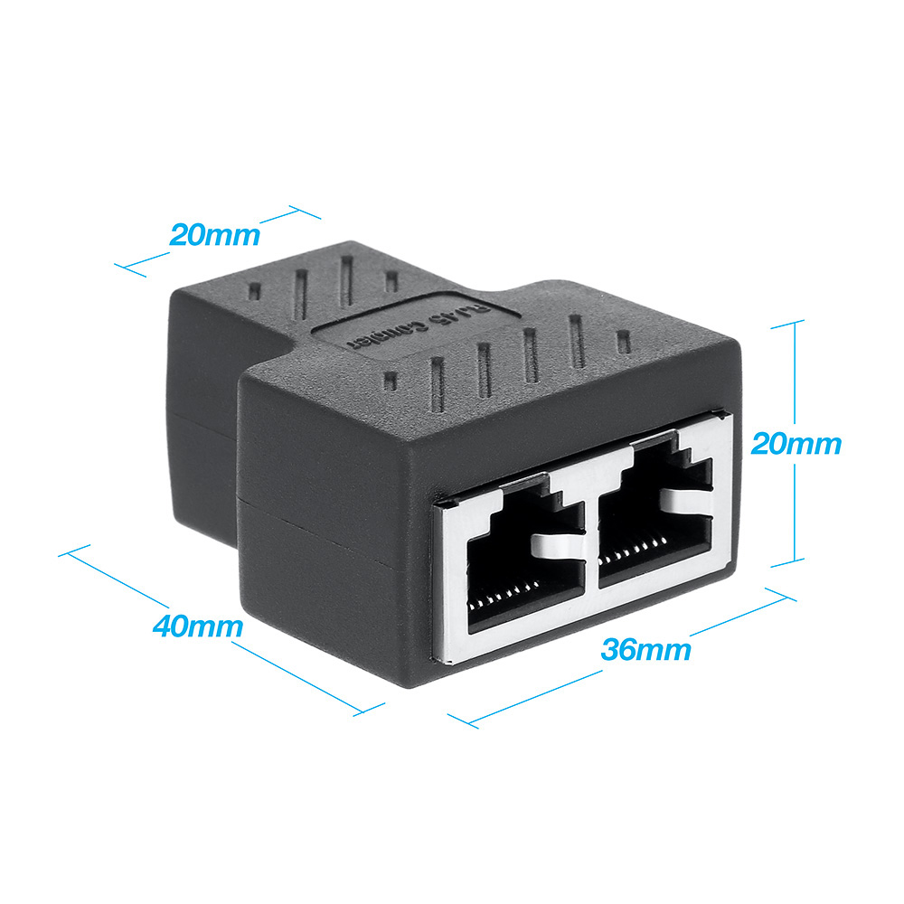 rj45 splitter adapter 1 to 2 ways dual female port rj45 lan ethernet network cable female splitter connector adapter in ethernet cables from computer  [ 1000 x 1000 Pixel ]