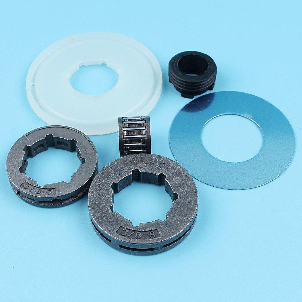 Clutch Rim Sprocket Washer Worm Gear Kit For Husqvarna 268 272 266 162 66 61 Chainsaw 3/8
