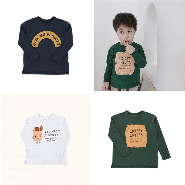 152b90cf9466 2018 Autumn Kids Clothes Tiny Cottons T shirts Baby Girls Tops ...