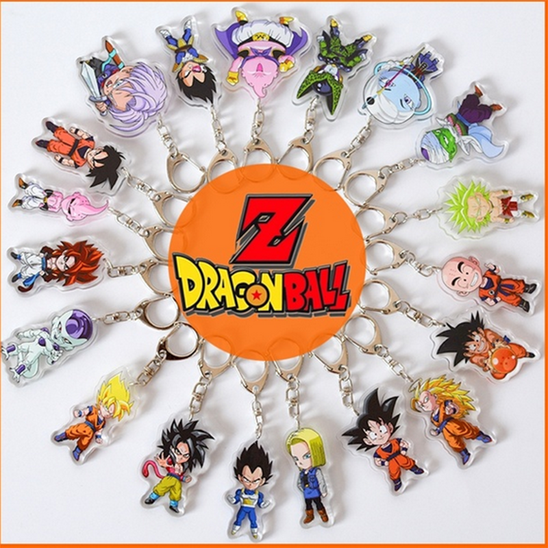 Anime Dragon Ball Z Key Accessory Cartoon Keychain Car Key Rings Pendant Kid Gift Dragon Ball Super Gokuu Son Vegeta Keyring