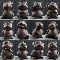 Twelve zodiac pieces Purple sand tea pet Boutique dog pig Chicken rat ox tiger rabbit Snake horses and sheep Dog Ceramic tea