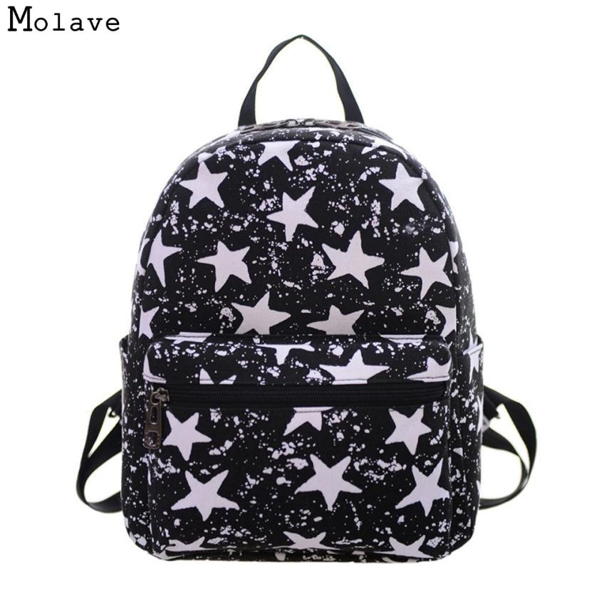 Naivety New Women Backpack Fashion Canvas Printing Shoulder Bag Lady Cool Purse 14S70113 drop shipping