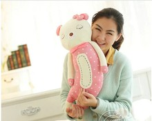 small lovely Teddy sleeping bear toy squinting bear pillow gift doll 50cm pink