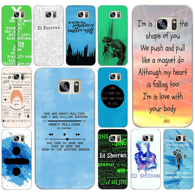 US $1 42 |262AW popular singer ed sheeran lyrics Hard Transparent Cover for  Huawei Honor 5C no Without The Fingerprint Hole Version For RU-in