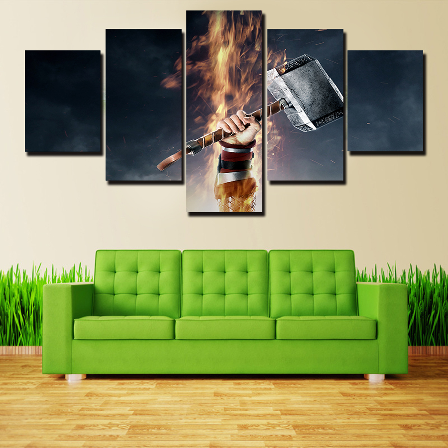 Wish Framed 5 Piece Fighting Games Poster Modern Home Wall Decor Canvas Picture Art HD Print