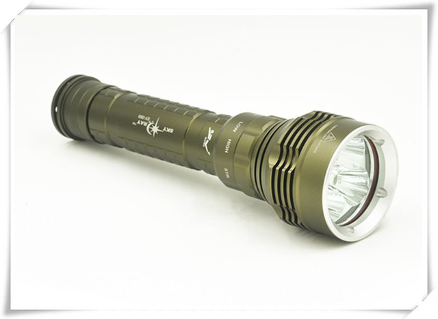 New SKYRAY SY-068 8000Lm Scuba Diving 5x CREE XM-L2 LED Dive Flashlight Torch Light Lantern Free Shipping