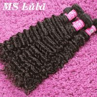 Fast and Free Shipping Unprocessed human hair extension brazilian curly 3pcs lot a full head ms lula hair brazilian virgin hair