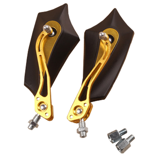 2 x mirrors Rear view mirrors mirrors 8mm aluminum motorcycle scooter gold
