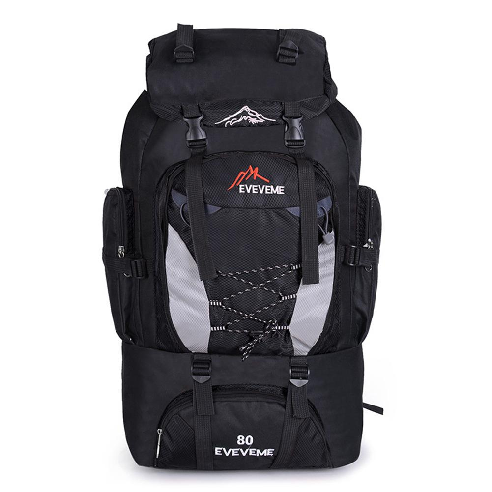 Men's 80L Large Waterproof Climbing Hiking Backpack Camping Mountaineering Backpack Sport Outdoor Rucksack Bag