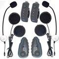 2 x1200M Moto Bluetooth Casco Interfono Auricular Interphone Manillar Remoto FM NFC for 5 Riders Helmet headset Intercom