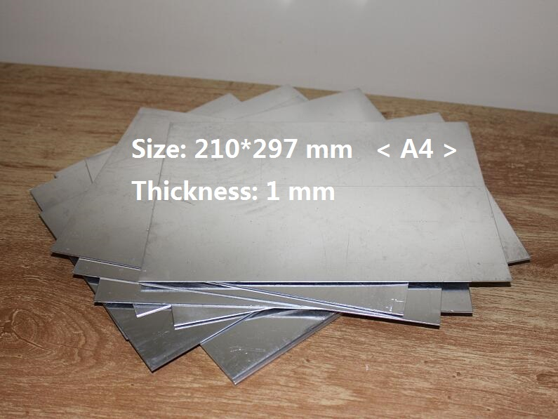 1mm Thickness Aluminum Panel Plate Sheet For Craft DIY Size 210*297mm 1/3/5 You Pick