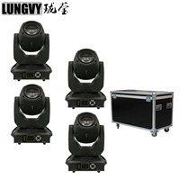 Free Shipping 4pcs/Lot Flight Case Packing 150W Spot Light LED Moving Head 8 Facet Prism Gobo Light For Disco DJ Stage