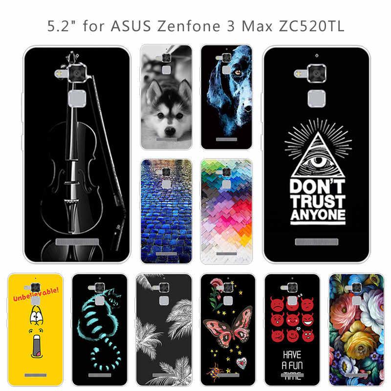 """Caso de TPU Para Asus Zenfone 3 Max ZC520TL 3 Max ZC520TL Silicone Macio Casos de Telefone Para Asus Zenfone Cobertura 5.2 """"Estrada de tijolos Fundas"""