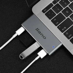 Image 2 - Laptop USB Thunderbolt 3 5 in 1 C adapter for MacBook Pro 13/15 inch 4K HDMI USB C USB 3.0 SD / TF Reader PD Adapter