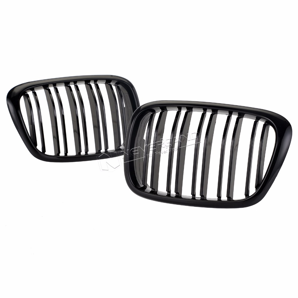 1Pair Car Styling Grill M5 Style Kidney Double Slat Grille