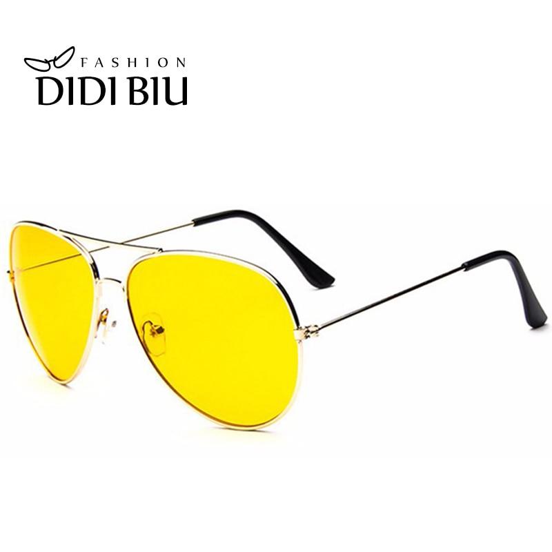 DIDI Día y Noche Gafas de sol amarillas Mujeres Hombres Marca de lujo de gran tamaño Aviación Conducción Goggle Accesorios Gafas Lunette caliente W309