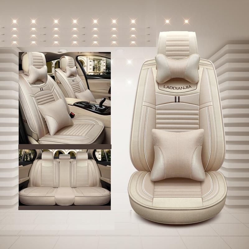 Car Seat Cover Flax universal seat cushion Car Styling For Hyundai i30 ix35 ix25 Elantra Santa