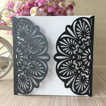 35pcs Exquisite Laser Cut Lace Design Wedding Invitations Card Birthday Party Decorations Greeting Blessing Card