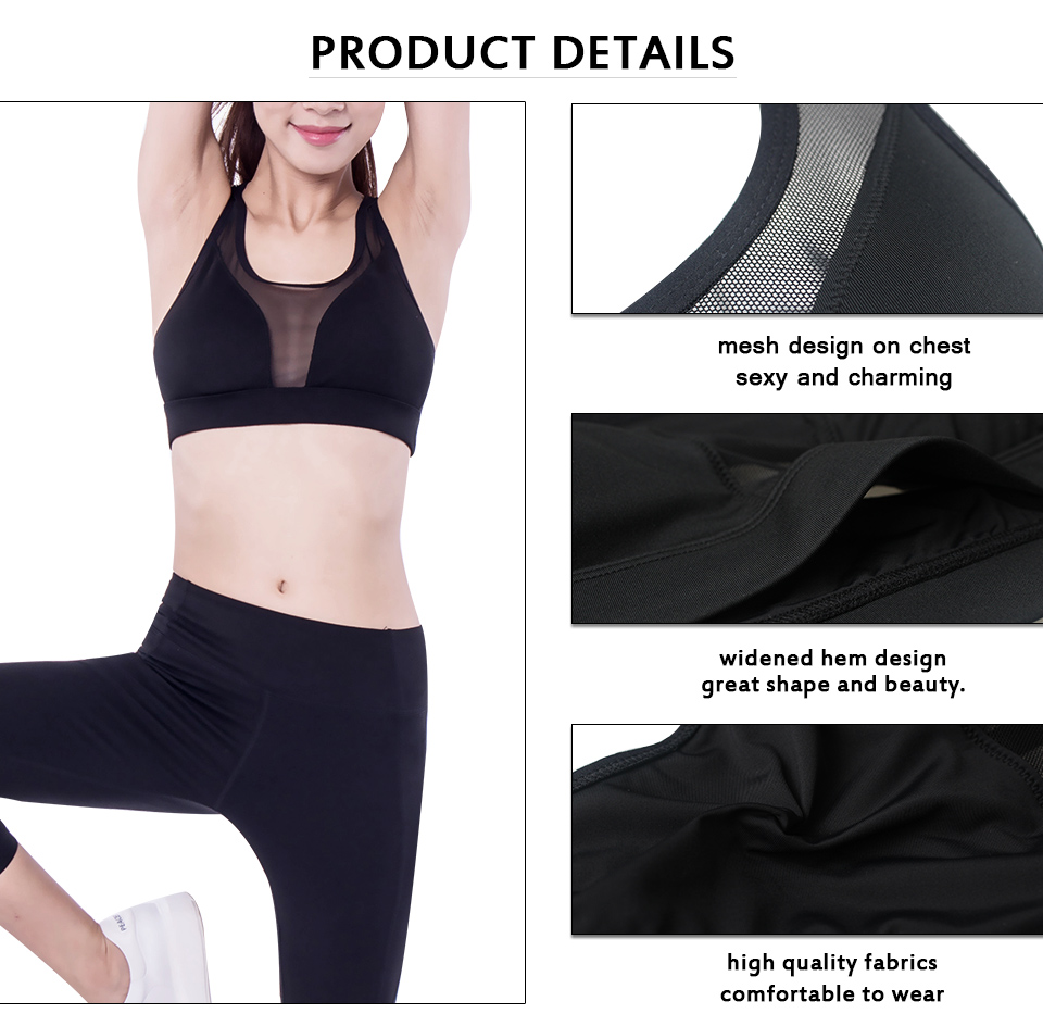 Women Sports Bra Fitness Clothes Breathable Running