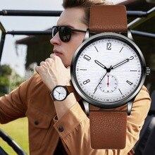 ¡Novedad de 2019! Relojes deportivos de lujo para hombre, reloj de cuarzo para hombre, reloj de pulsera para hombre con Cuero militar, reloj Masculino
