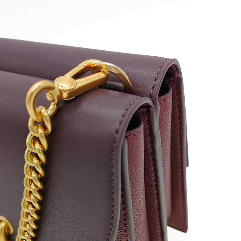 Baru Wanita Paket Fashion Kunci Persegi Kecil Tas Tren Liar Rantai Tas untuk Wanita Bahu Messenger Tas