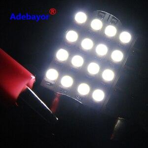 Image 4 - Dôme de voiture, 100X 39mm c10w 3528 16SMD LED, blanc bleu, ampoules pour lintérieur de voiture, plaque dimmatriculation LED