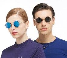 2019 New Design Round Glasses Sunglasses Steampunk Men Sun for Rave Festival Mens Vintage